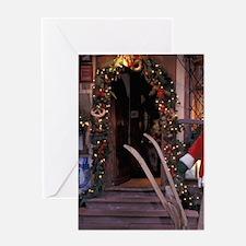 EU, France, Saverne, Christmas decor Greeting Card