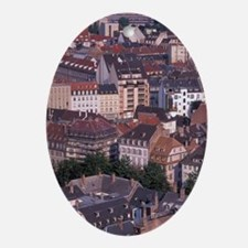 EU, France, Alsace, Strasbourg. Rout Oval Ornament