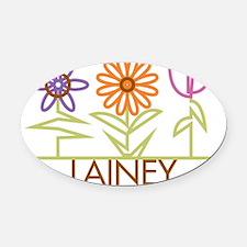 LAINEY-cute-flowers Oval Car Magnet