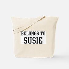 Belongs to Susie Tote Bag