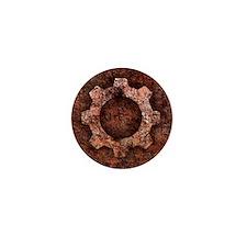 steampunk rust Mini Button