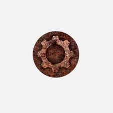 steampunk rust Mini Button