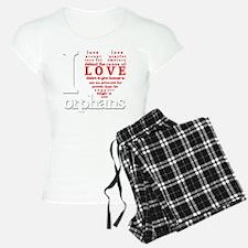 i love orphans white red LA Pajamas