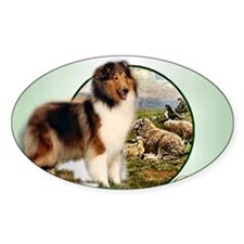 collie with sheep adjusted 6 Decal
