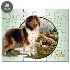 collie with sheep adjusted 6 Puzzle
