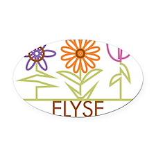 ELYSE-cute-flowers Oval Car Magnet