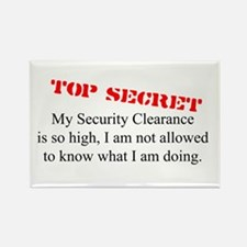 Security Clearance Joke Rectangle Magnet