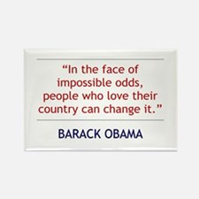 Obama Quote: People Who Love Their Country Magnet