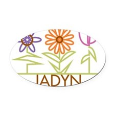 JADYN-cute-flowers Oval Car Magnet