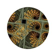 """Escher grey-fern 3.5"""" Button"""