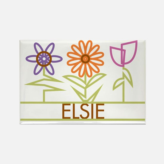 ELSIE-cute-flowers Rectangle Magnet
