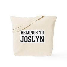Belongs to Joslyn Tote Bag