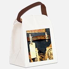 steampunk luggage Canvas Lunch Bag