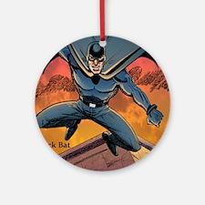 BLACK BAT CMYK Round Ornament