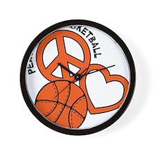 P,L,Basketball, orange Wall Clock