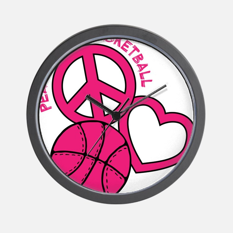 P,L,Basketball, melon Wall Clock