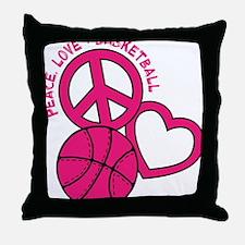 P,L,Basketball, melon Throw Pillow