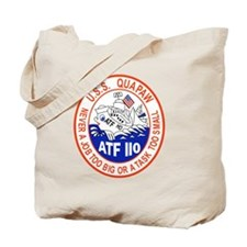 NAVY SHIPS THE USS QUAPAW ATF-110 PATCH Tote Bag