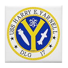 DLG-17 USS HARRY E YARNELL Guided Mis Tile Coaster
