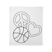 P,L,Basketball, white Throw Blanket