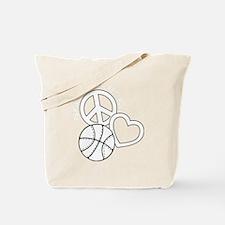P,L,Basketball, white Tote Bag