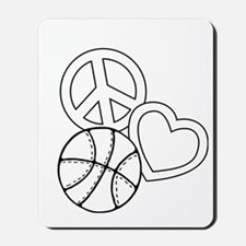 P,L,Basketball, white Mousepad