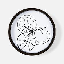 P,L,Basketball, white Wall Clock