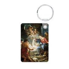 nativity4 Aluminum Photo Keychain