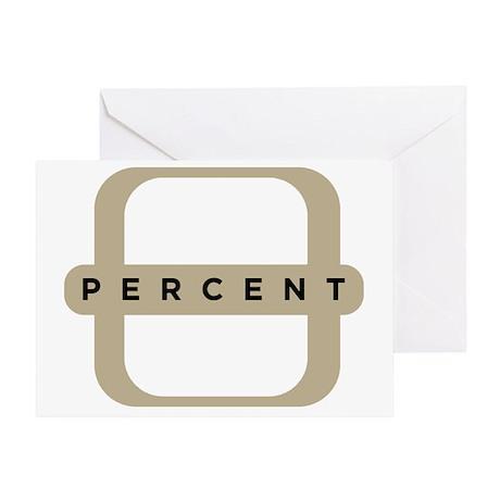 1P-LogoBlackShirt Greeting Card