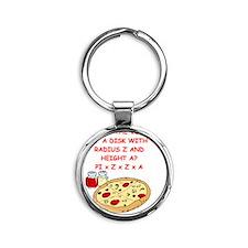 math pizza joke Round Keychain