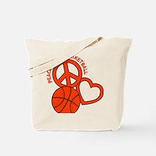P,L,Basketball, neon orange Tote Bag