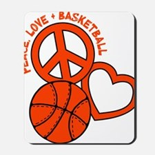 P,L,Basketball, neon orange Mousepad