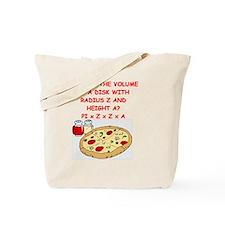 math pizza joke Tote Bag