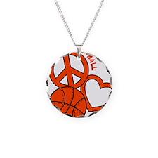 P,L,Basketball, neon orange Necklace