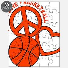 P,L,Basketball, neon orange Puzzle