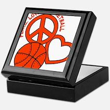 P,L,Basketball, neon orange Keepsake Box
