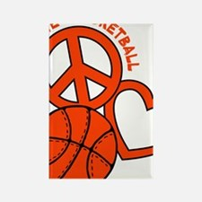 P,L,Basketball, neon orange Rectangle Magnet