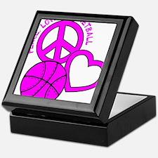 P,L,Basketball, hot pink Keepsake Box
