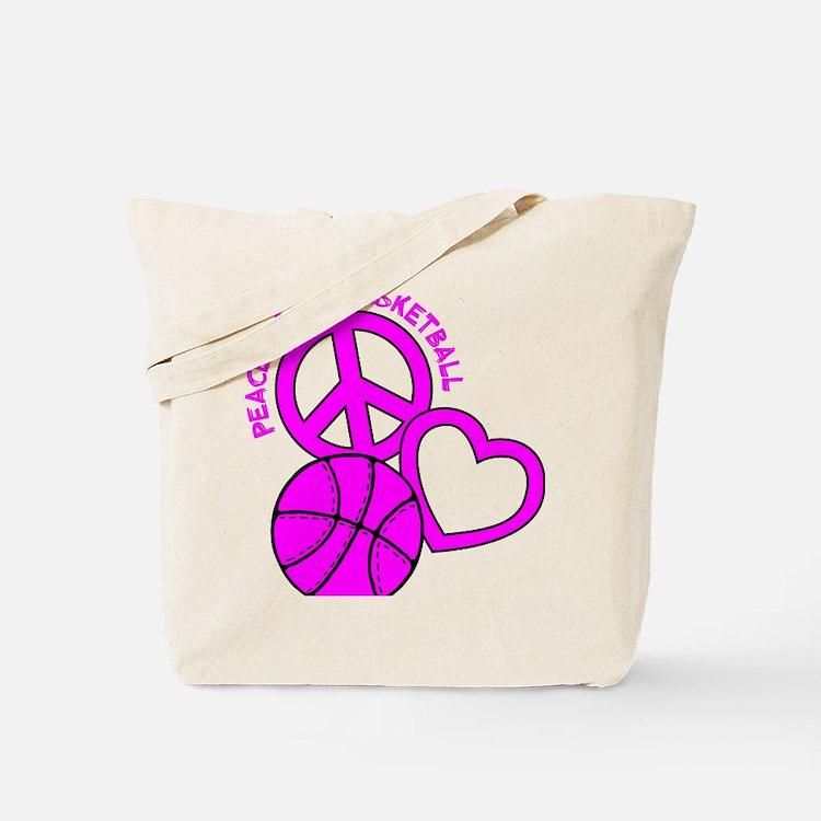 P,L,Basketball, hot pink Tote Bag