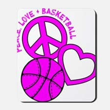 P,L,Basketball, hot pink Mousepad