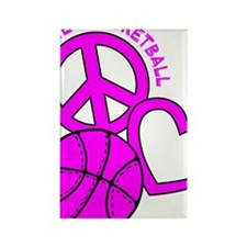 P,L,Basketball, hot pink Rectangle Magnet