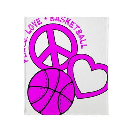 P,L,Basketball, hot pink Throw Blanket