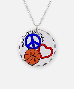 P,L,Basketball, multi Necklace