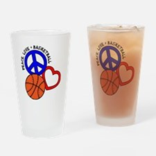 P,L,Basketball, multi Drinking Glass