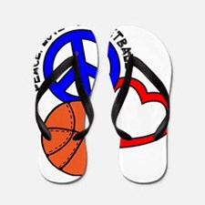 P,L,Basketball, multi Flip Flops