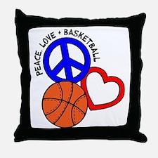 P,L,Basketball, multi Throw Pillow