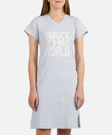 unfucktheworldwht Women's Nightshirt