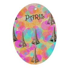 Paris_flip_flops Oval Ornament