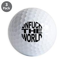 unfucktheworldblk Golf Ball