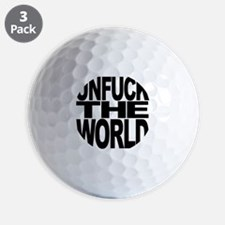 unfucktheworldblk Golf Ball